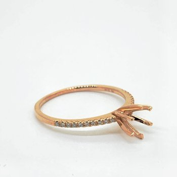 Rose Gold Engagement Ring Mounting