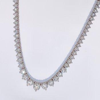 Graduated Diamond Tennis Necklace-10.21ctw