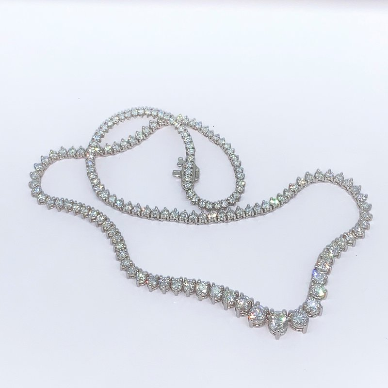 Decor Graduated Diamond Tennis Necklace-10.21ctw