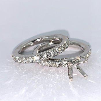 1.86ct Diamond Ring Mounting Set