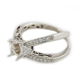 Open Double Row Diamond Ring Mounting