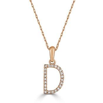 "Initial ""D"" Diamond Necklace"