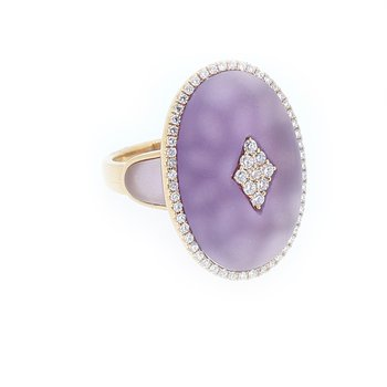 Amethyst Quartz & Diamond Ring