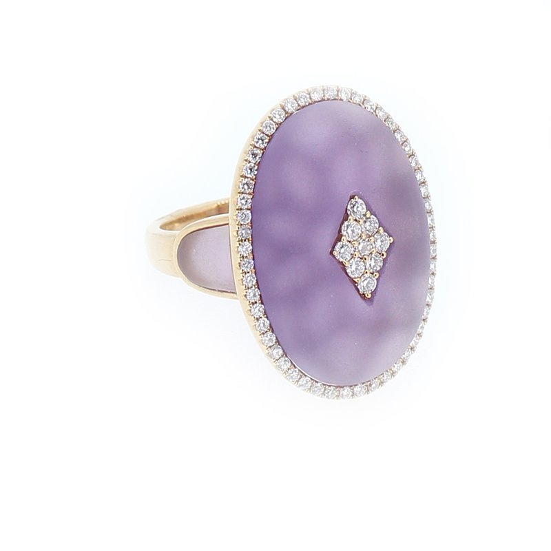 Sophia By Design Amethyst Quartz & Diamond Ring