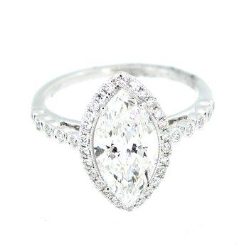 Marquise Halo Diamond Ring