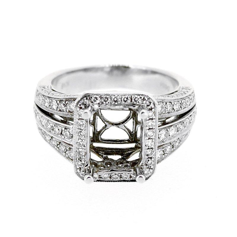 Decor Wide Diamond Ring Mounting