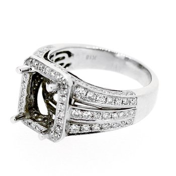 Wide Diamond Ring Mounting
