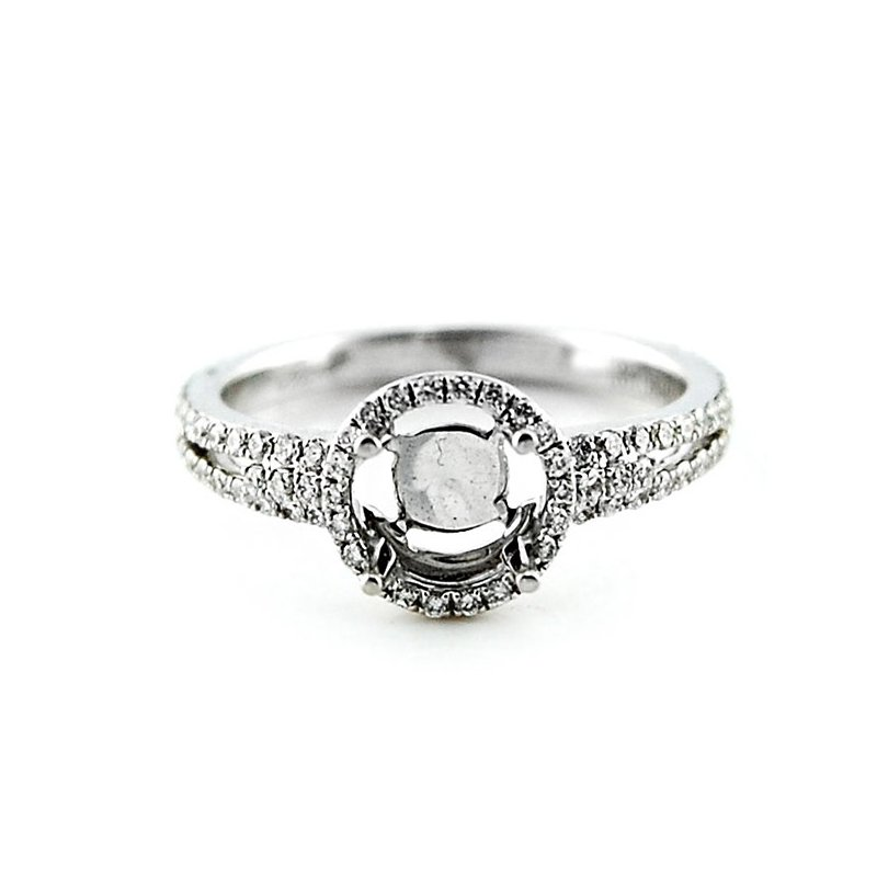 Decor Round Halo Diamond Ring Mounting