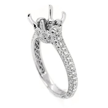 Elegant Pave Diamond Mounting