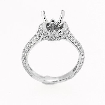 Elegant Pave Diamond Mounting
