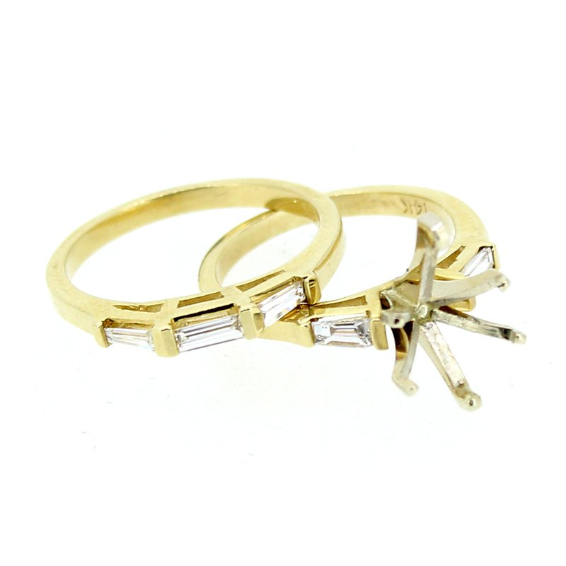 Decor Estate Baguette Diamond Ring & Band