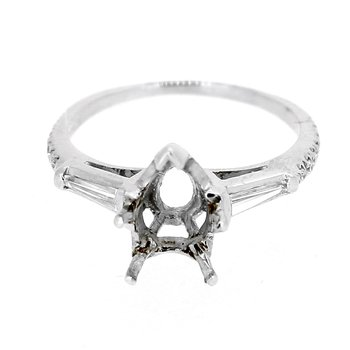 Estate Tapered Baguette Diamond Ring Mounting