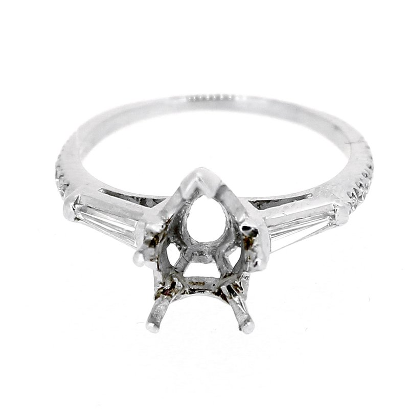 Decor Estate Tapered Baguette Diamond Ring Mounting