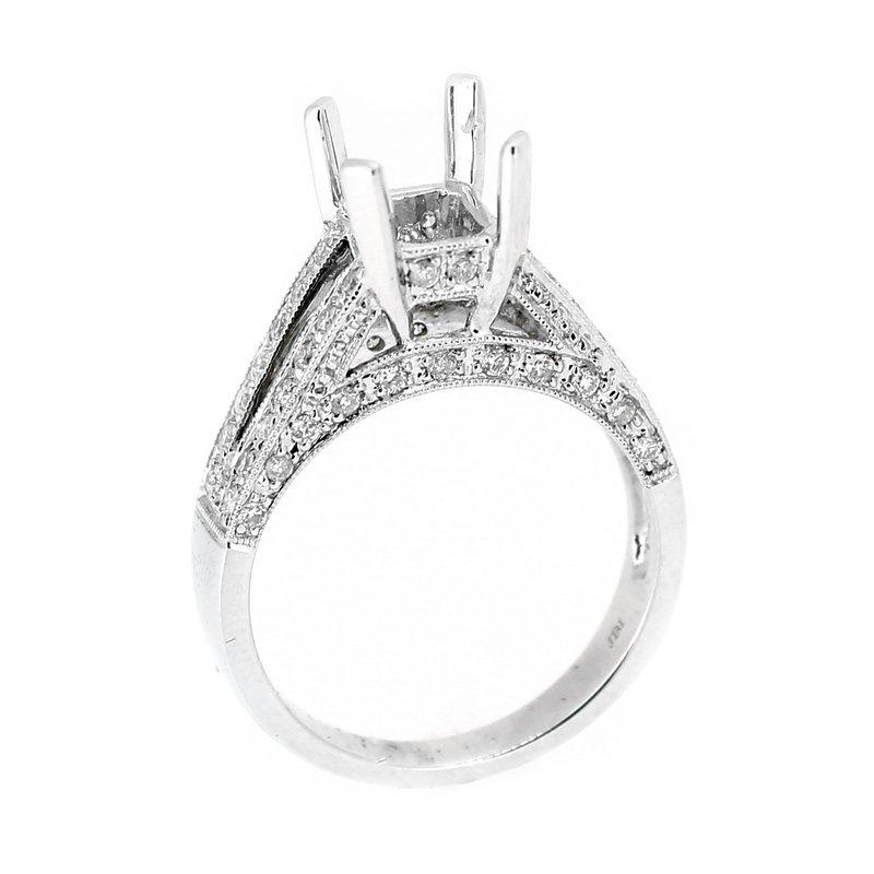 Decor Double Row Diamond Ring Mounting