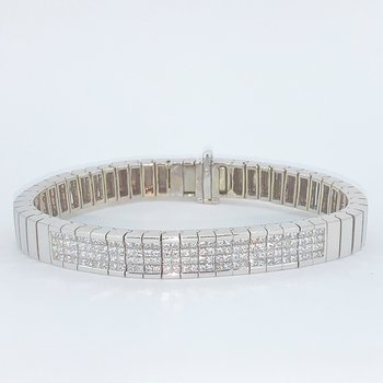 Invisible Set Diamond Bracelet