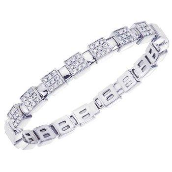 Pave Diamond Squares Bracelet