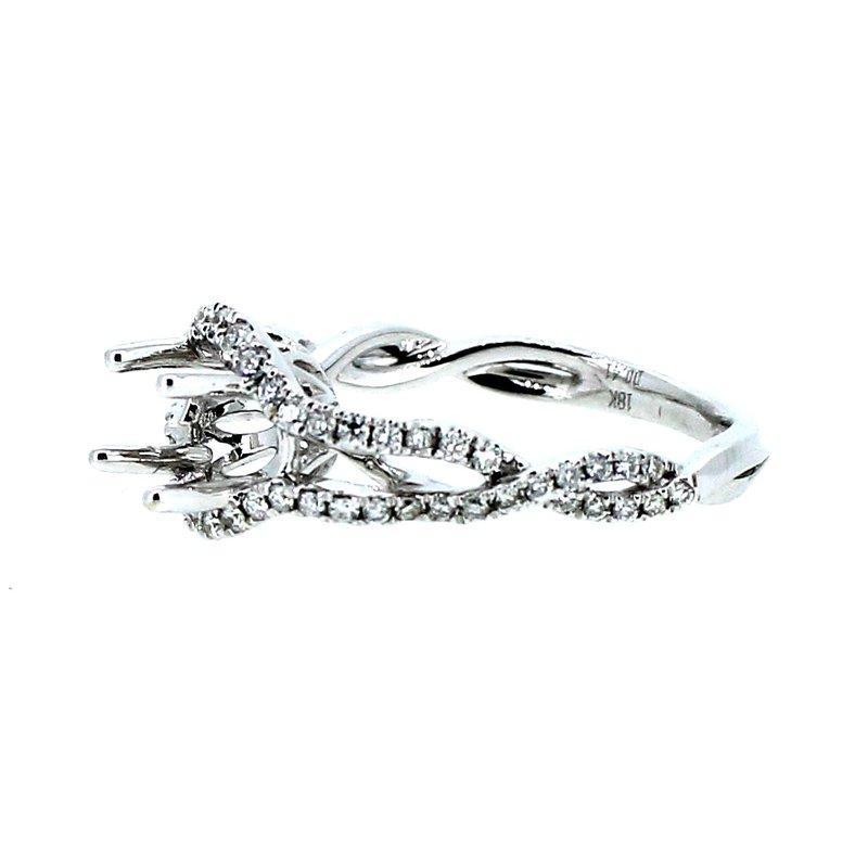 Decor Open Twist Diamond Semi Mount