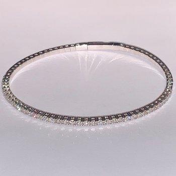 1.61ctw Flexible Diamond Bangle Bracelet