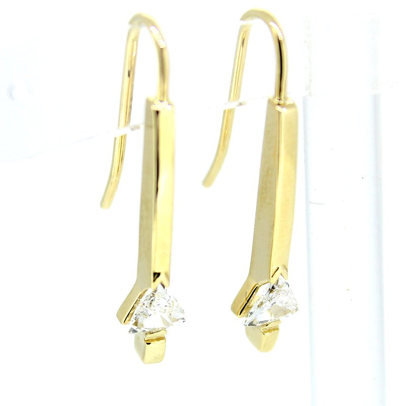 Decor Gold Trillion Diamond Drop Earrings