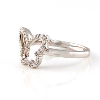 Diamond Butterfly Fashion Ring