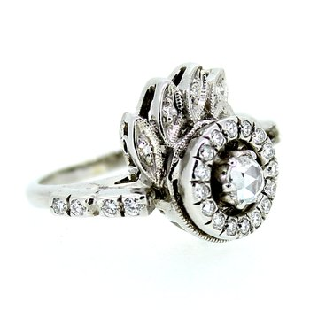 Rose Cut Cluster Ring