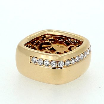 Wide Square Diamond Band