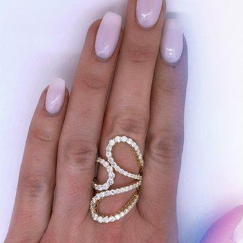 Open Freeform Diamond Ring