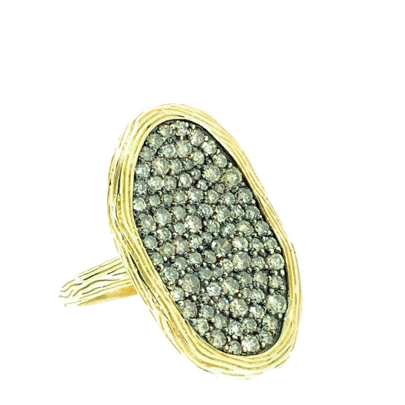 Decor Brown Diamond Wavy Cluster Ring