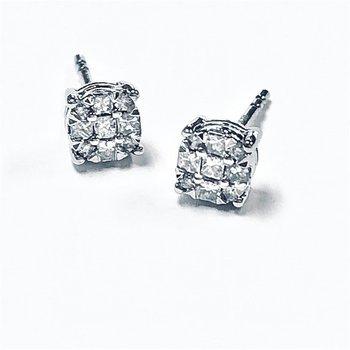 .25ctw Diamond Cluster Earrings