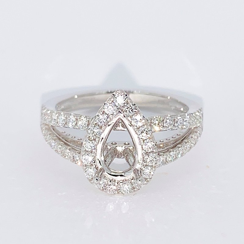 Decor Pear Halo Diamond Ring Mounting