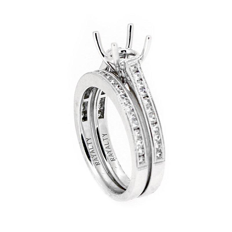 Decor Diamond Wedding Set Mounting & Band