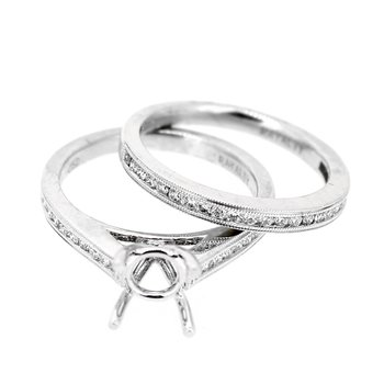 Diamond Wedding Set Mounting & Band