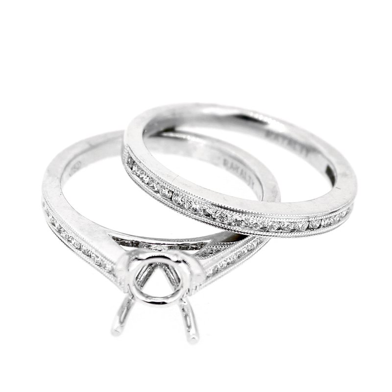 Decor Diamond Wedding Set Mounting & Band