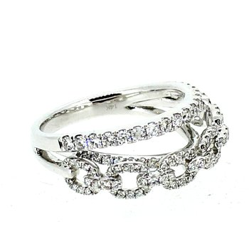 Chain Link Diamond Band