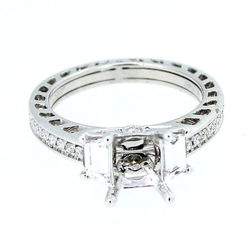 Trapezoid Cut Diamond Semi Mount