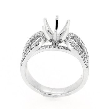 Multi Row Split Shank Diamond Ring Mounting