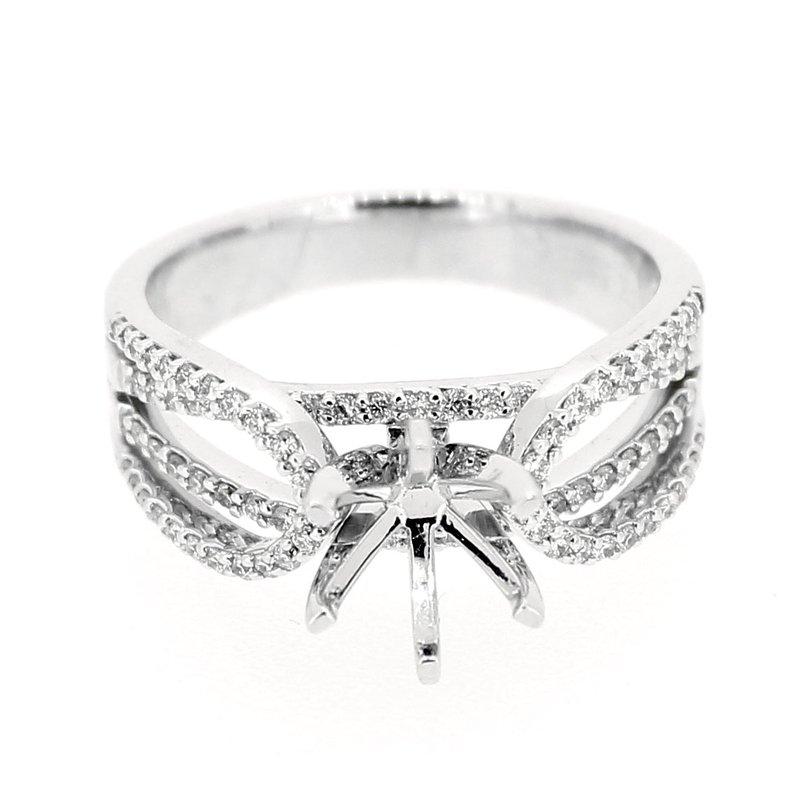 Decor Multi Row Split Shank Diamond Ring Mounting
