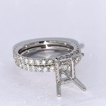 Diamond Collar Wedding Set Mounting