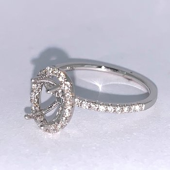 Diamond Oval Ring Mounting