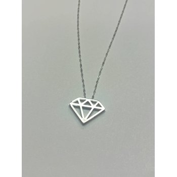 Diamond Cutout Shape Necklace