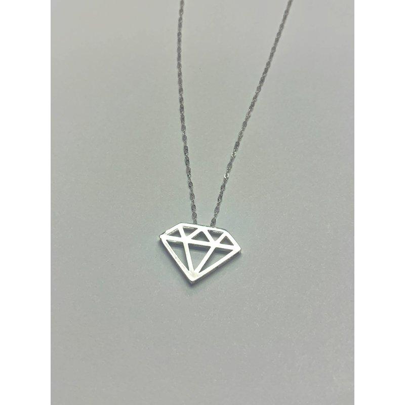 Decor Diamond Cutout Shape Necklace