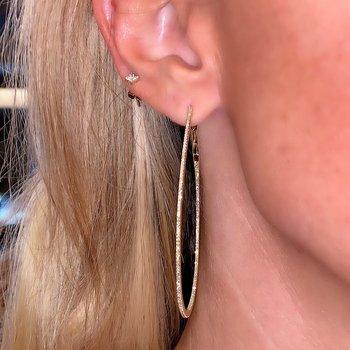 .79ctw Skinny Diamond Hoop Earrings