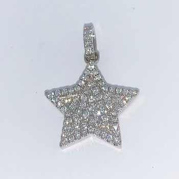 Pave Diamond Star Pendant