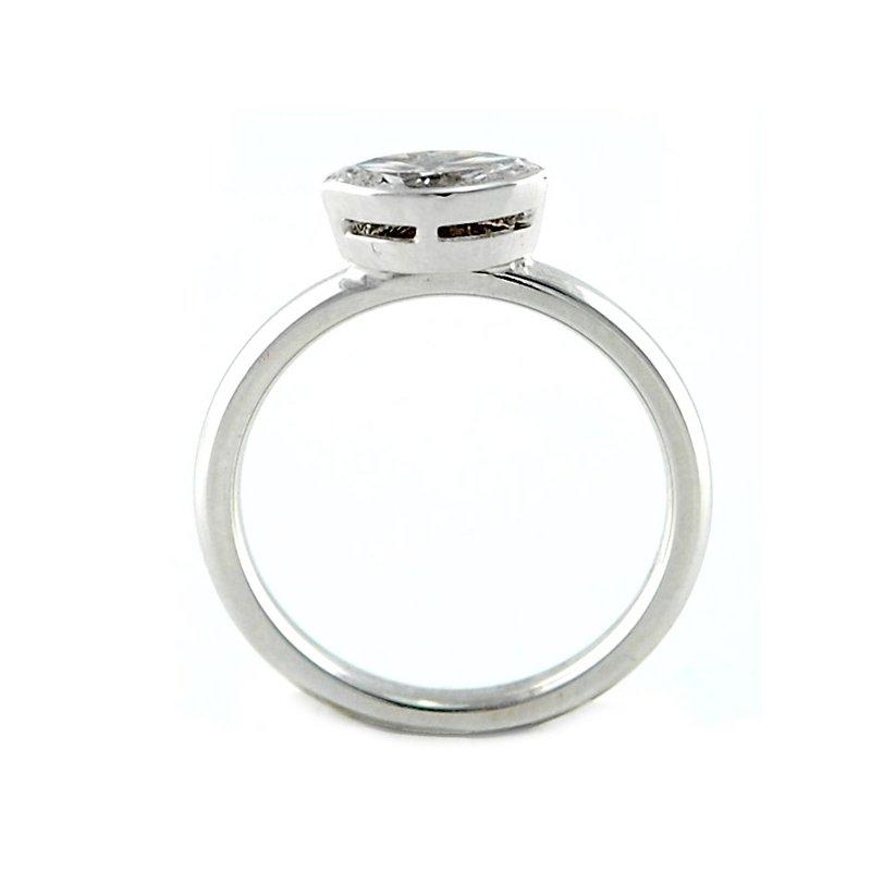 Decor Bezel Set Marquise Diamond Ring