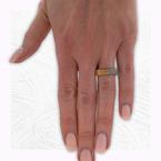 Decor Rose Gold Square Diamond Ring