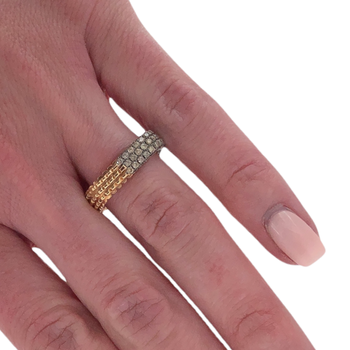 Rose Gold Square Diamond Ring