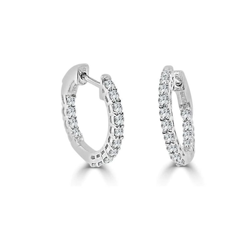 Sabrina Diamond Hoop Earrings