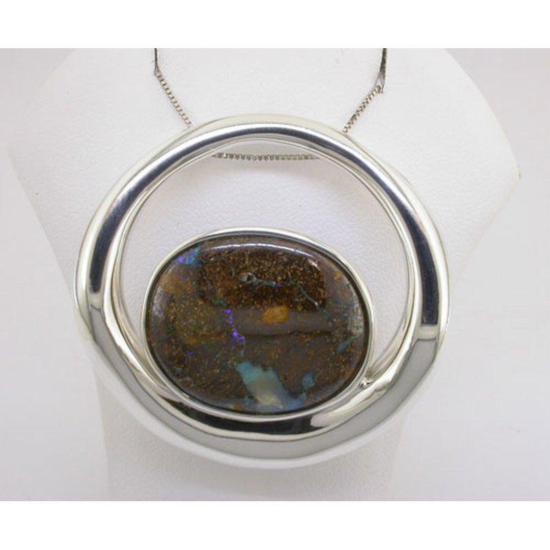 Parlé Boulder Opal Pendant