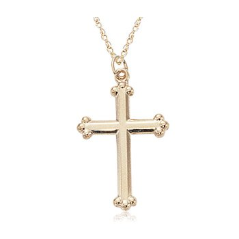 Gold Textured Cross Pendant