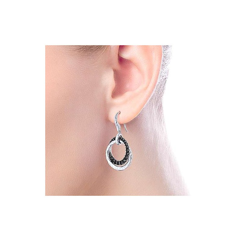 Gabriel & Co. -  IN-STORE COLLECTION Black Spinel Double Loop Earrings